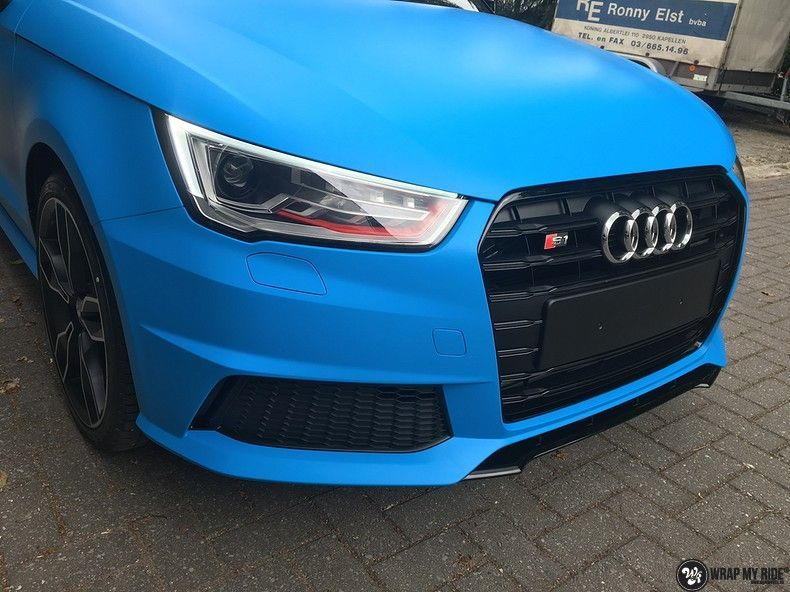 Audi S1 3m matte minerva bleu, Carwrapping door Wrapmyride.nu Foto-nr:11622, ©2020