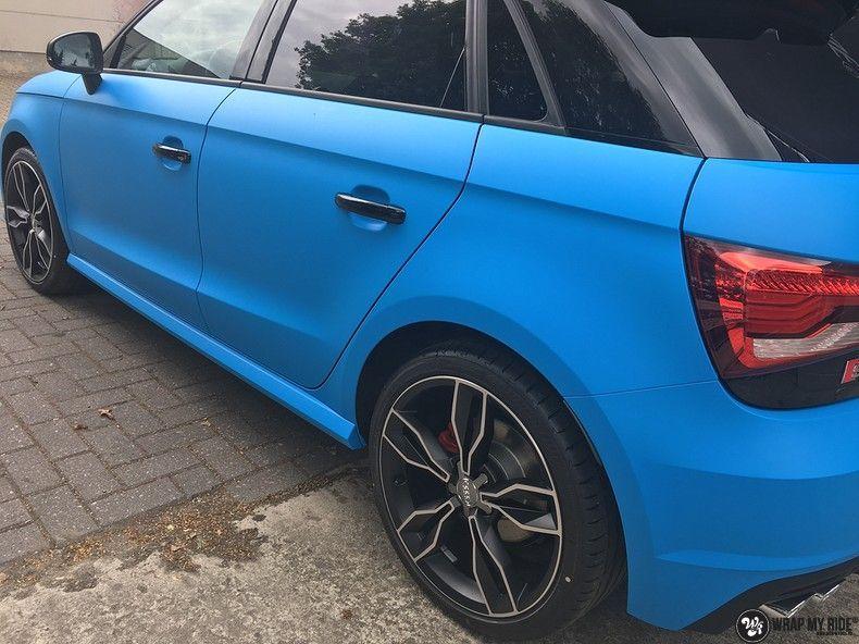 Audi S1 3m matte minerva bleu, Carwrapping door Wrapmyride.nu Foto-nr:11623, ©2020