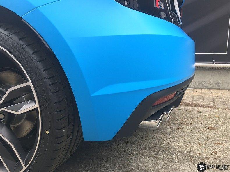 Audi S1 3m matte minerva bleu, Carwrapping door Wrapmyride.nu Foto-nr:11625, ©2020