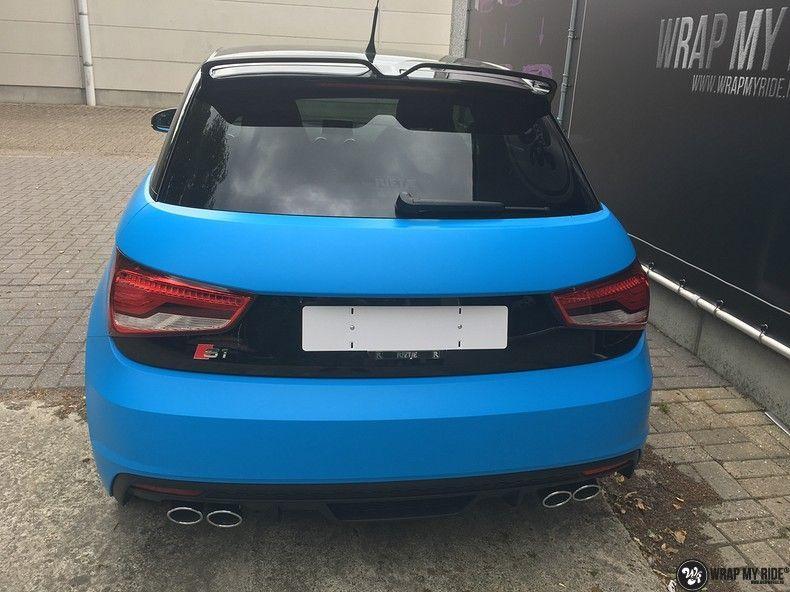 Audi S1 3m matte minerva bleu, Carwrapping door Wrapmyride.nu Foto-nr:11626, ©2020