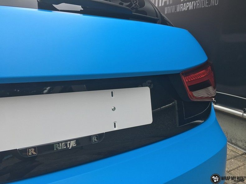 Audi S1 3m matte minerva bleu, Carwrapping door Wrapmyride.nu Foto-nr:11627, ©2020