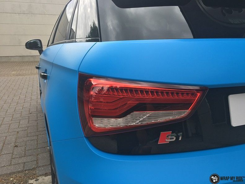 Audi S1 3m matte minerva bleu, Carwrapping door Wrapmyride.nu Foto-nr:11628, ©2020