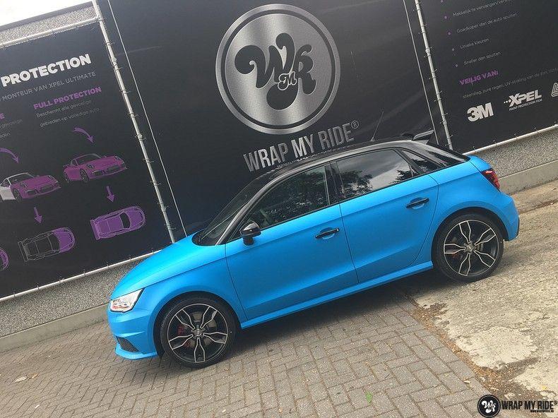 Audi S1 3m matte minerva bleu, Carwrapping door Wrapmyride.nu Foto-nr:11632, ©2021