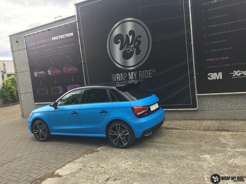 Audi S1 3m matte minerva bleu, Carwrapping door Wrapmyride.nu Foto-nr:11633, ©2020