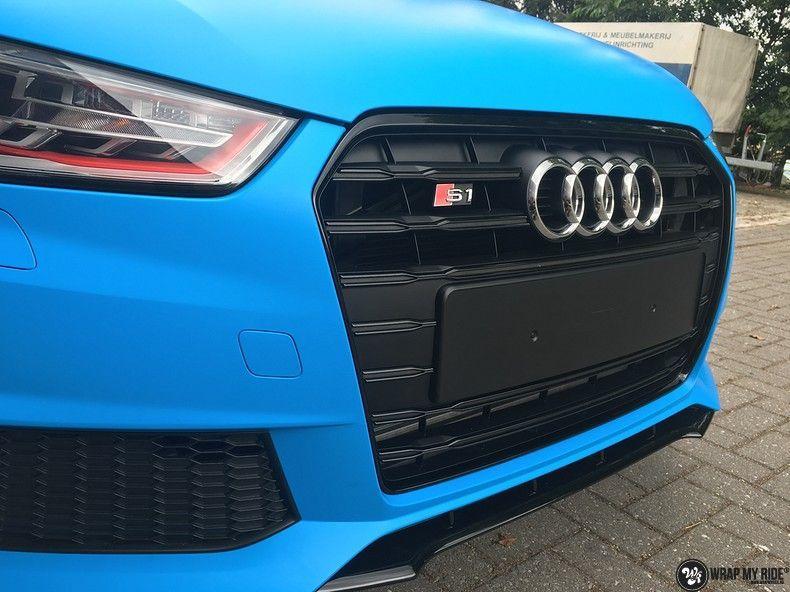Audi S1 3m matte minerva bleu, Carwrapping door Wrapmyride.nu Foto-nr:11634, ©2020
