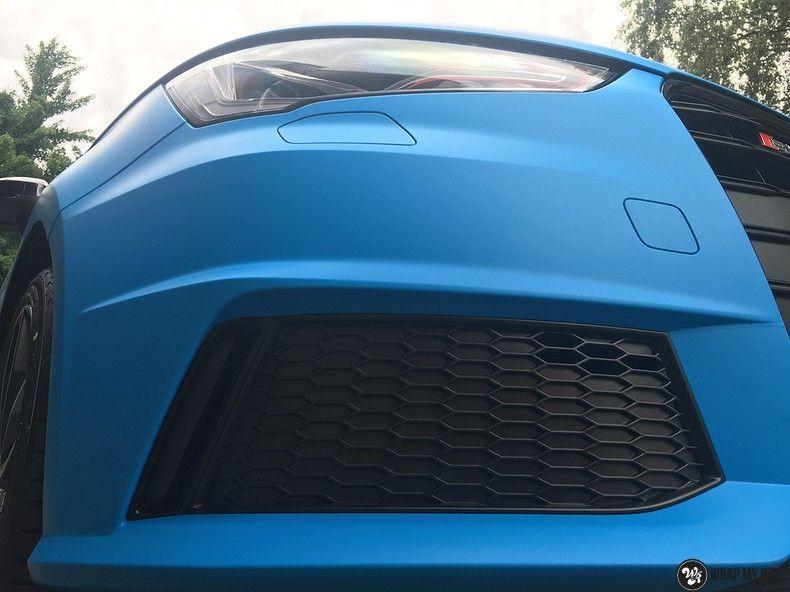 Audi S1 3m matte minerva bleu, Carwrapping door Wrapmyride.nu Foto-nr:11636, ©2020