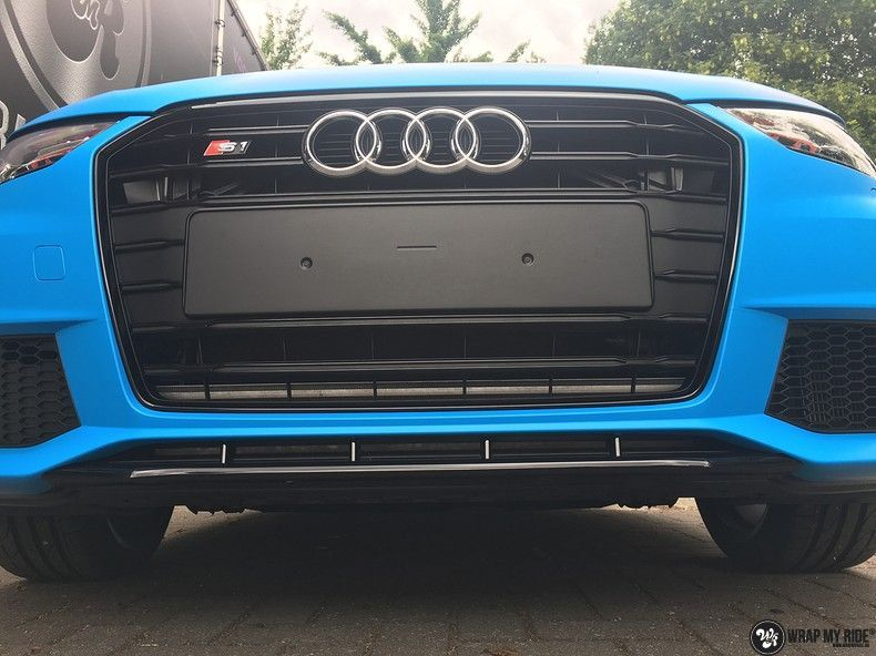 Audi S1 3m matte minerva bleu, Carwrapping door Wrapmyride.nu Foto-nr:11637, ©2021