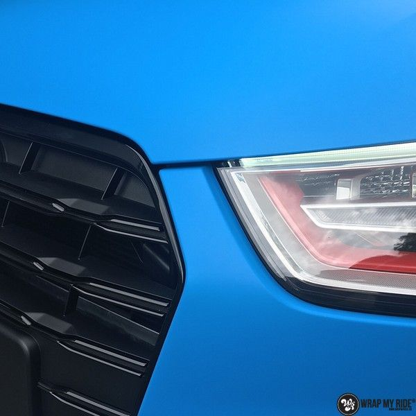 Audi S1 3m matte minerva bleu, Carwrapping door Wrapmyride.nu Foto-nr:11641, ©2020