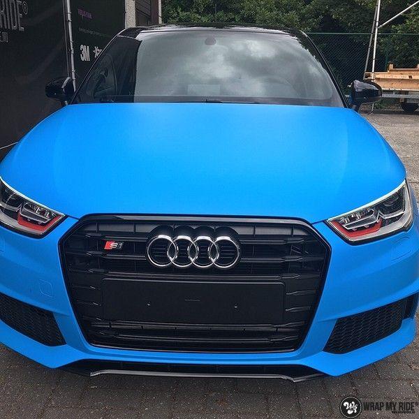 Audi S1 3m matte minerva bleu, Carwrapping door Wrapmyride.nu Foto-nr:11642, ©2020
