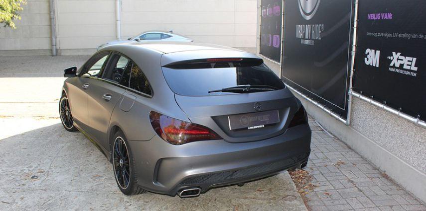 Mercedes CLA Shooting brake matte dark grey