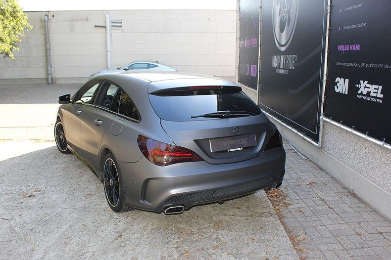 Mercedes CLA Shooting brake matte dark grey, Carwrapping door Wrapmyride.nu Foto-nr:12301, ©2019