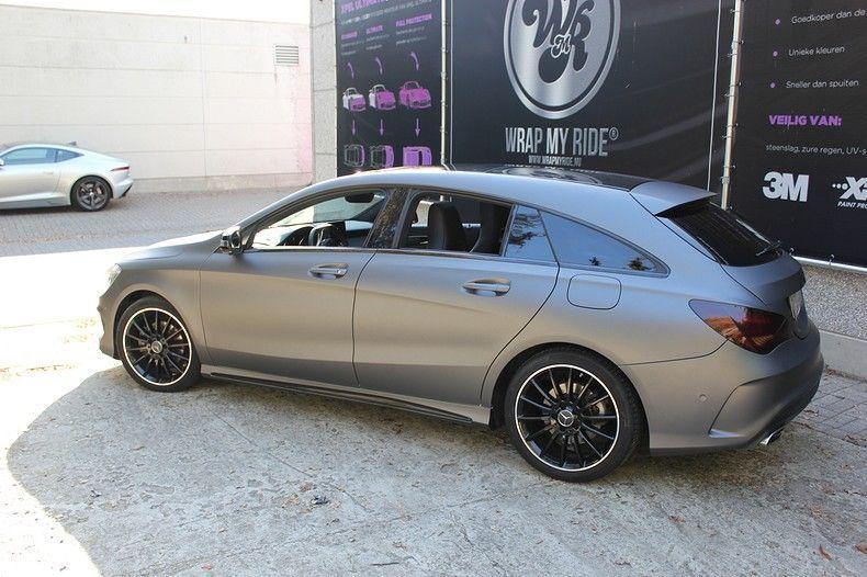Mercedes CLA Shooting brake matte dark grey, Carwrapping door Wrapmyride.nu Foto-nr:12300, ©2021