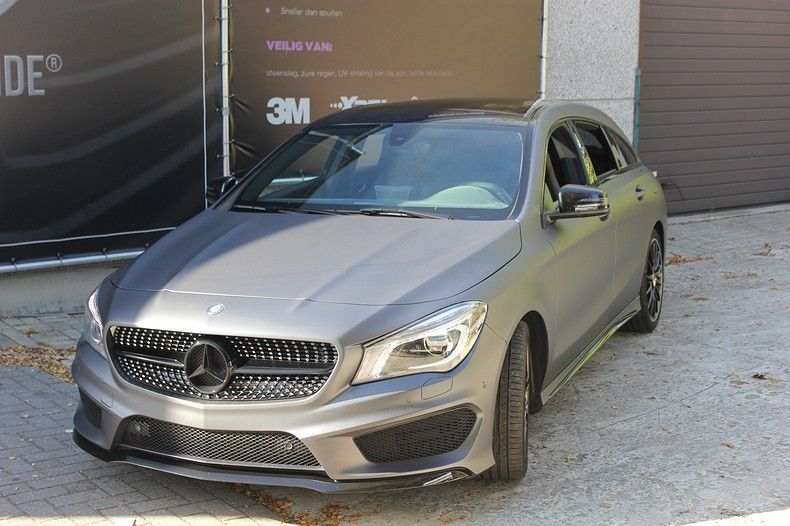 Mercedes CLA Shooting brake matte dark grey, Carwrapping door Wrapmyride.nu Foto-nr:12298, ©2019