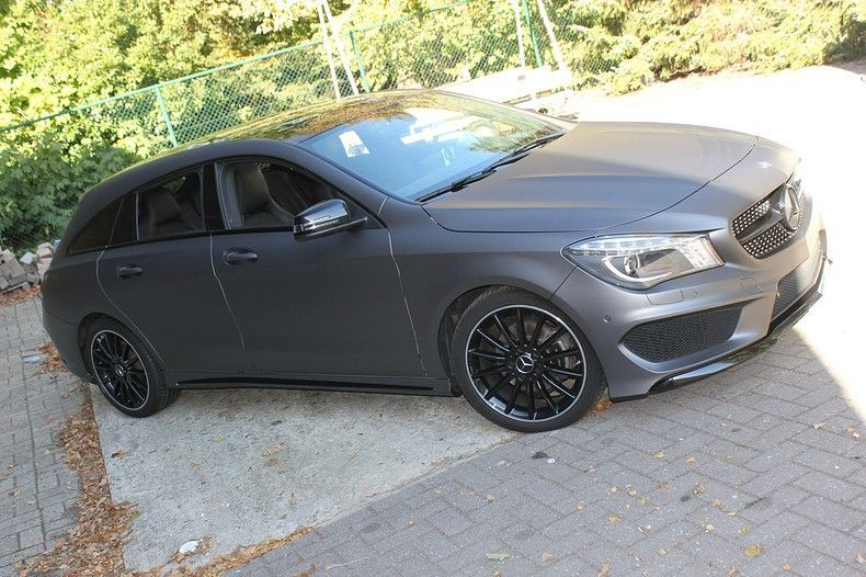 Mercedes CLA Shooting brake matte dark grey, Carwrapping door Wrapmyride.nu Foto-nr:12296, ©2020