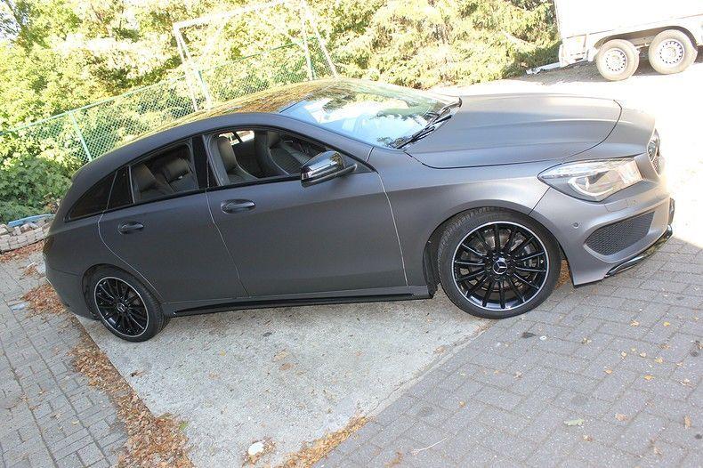 Mercedes CLA Shooting brake matte dark grey, Carwrapping door Wrapmyride.nu Foto-nr:12295, ©2021