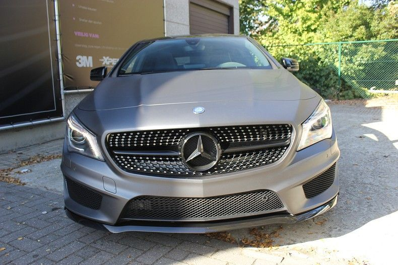 Mercedes CLA Shooting brake matte dark grey, Carwrapping door Wrapmyride.nu Foto-nr:12294, ©2020