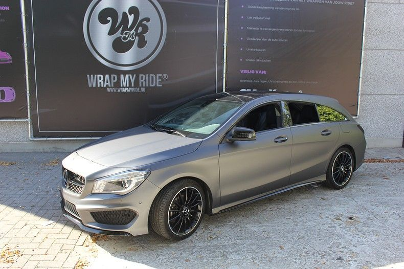 Mercedes CLA Shooting brake matte dark grey, Carwrapping door Wrapmyride.nu Foto-nr:12293, ©2020