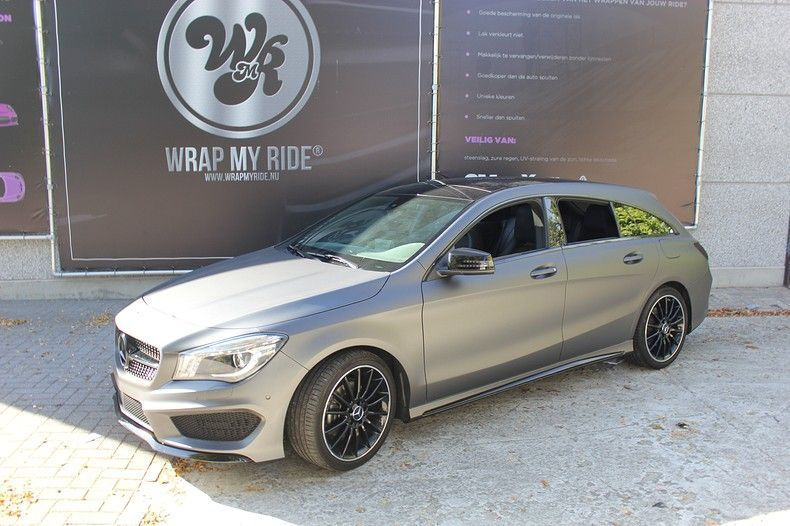 Mercedes CLA Shooting brake matte dark grey, Carwrapping door Wrapmyride.nu Foto-nr:12292, ©2019