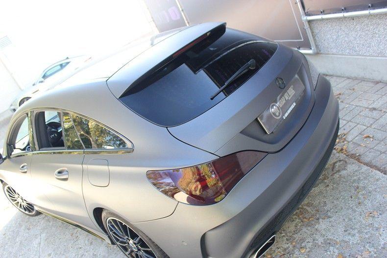 Mercedes CLA Shooting brake matte dark grey, Carwrapping door Wrapmyride.nu Foto-nr:12291, ©2021