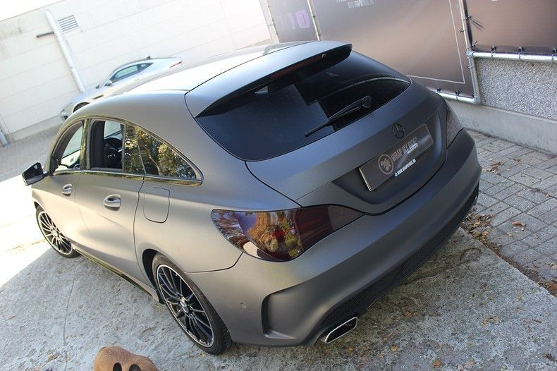 Mercedes CLA Shooting brake matte dark grey, Carwrapping door Wrapmyride.nu Foto-nr:12290, ©2021