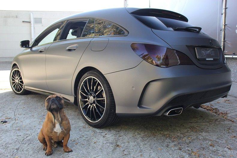 Mercedes CLA Shooting brake matte dark grey, Carwrapping door Wrapmyride.nu Foto-nr:12289, ©2021