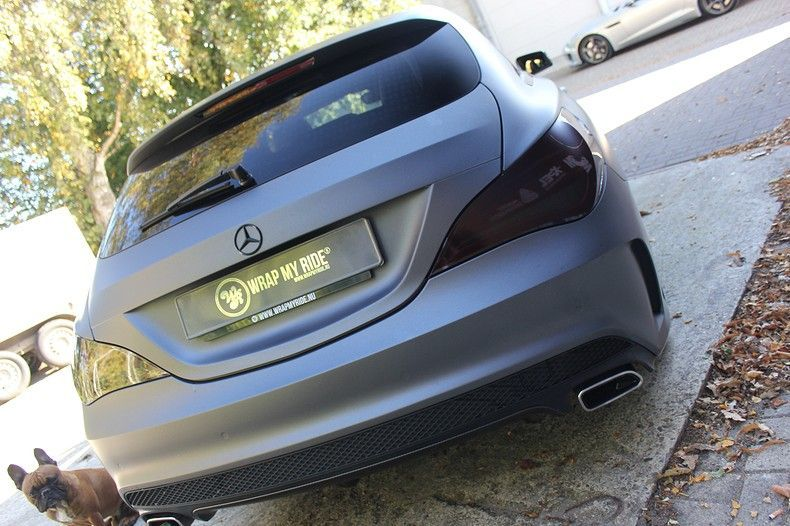 Mercedes CLA Shooting brake matte dark grey, Carwrapping door Wrapmyride.nu Foto-nr:12287, ©2020