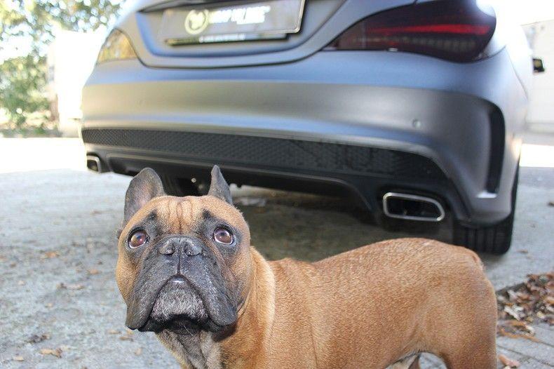 Mercedes CLA Shooting brake matte dark grey, Carwrapping door Wrapmyride.nu Foto-nr:12285, ©2021
