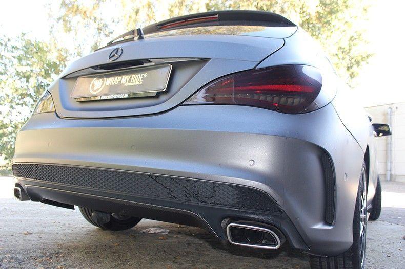 Mercedes CLA Shooting brake matte dark grey, Carwrapping door Wrapmyride.nu Foto-nr:12284, ©2021