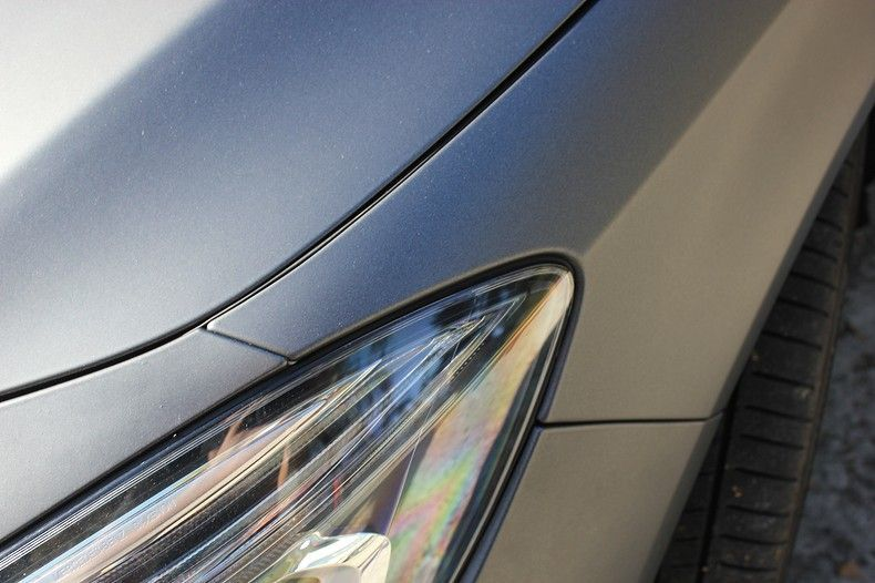 Mercedes CLA Shooting brake matte dark grey, Carwrapping door Wrapmyride.nu Foto-nr:12278, ©2020