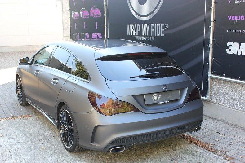 Mercedes CLA Shooting brake matte dark grey, Carwrapping door Wrapmyride.nu Foto-nr:12274, ©2021