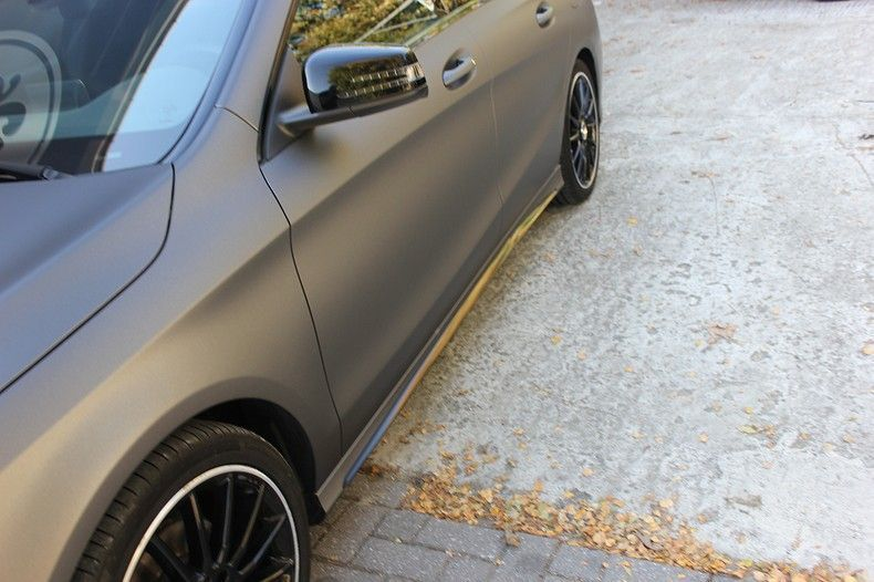 Mercedes CLA Shooting brake matte dark grey, Carwrapping door Wrapmyride.nu Foto-nr:12270, ©2019