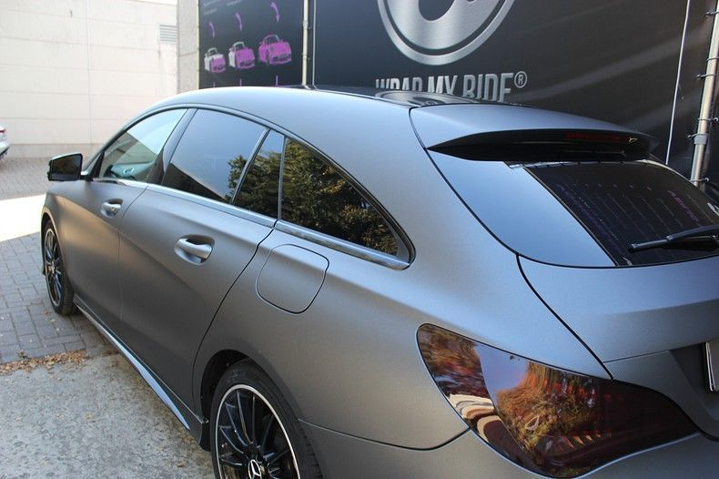 Mercedes CLA Shooting brake matte dark grey, Carwrapping door Wrapmyride.nu Foto-nr:12269, ©2019