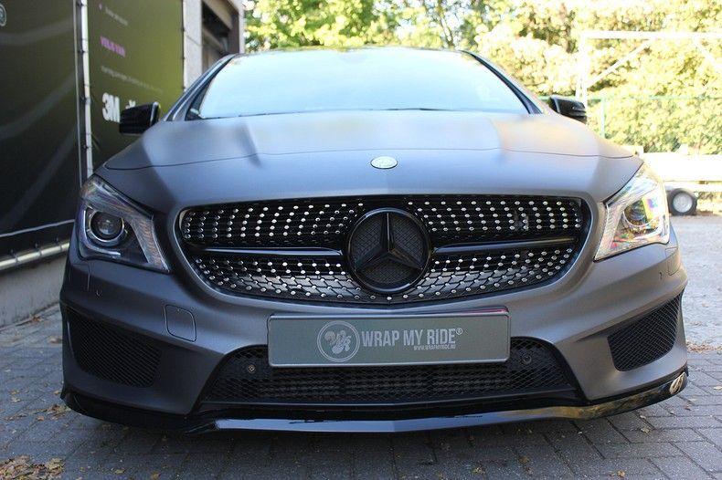 Mercedes CLA Shooting brake matte dark grey, Carwrapping door Wrapmyride.nu Foto-nr:12268, ©2021