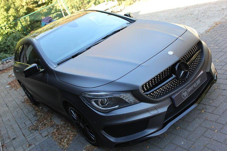 Mercedes CLA Shooting brake matte dark grey, Carwrapping door Wrapmyride.nu Foto-nr:12266, ©2019