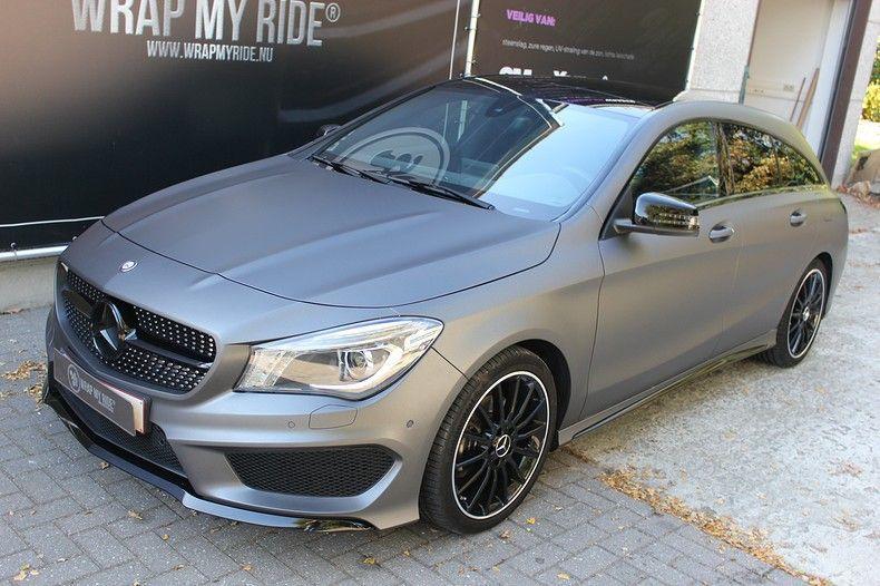 Mercedes CLA Shooting brake matte dark grey, Carwrapping door Wrapmyride.nu Foto-nr:12265, ©2021