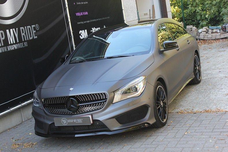Mercedes CLA Shooting brake matte dark grey, Carwrapping door Wrapmyride.nu Foto-nr:12264, ©2021