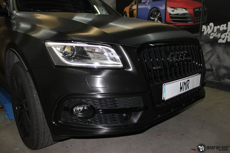 Audi Q5 Brushed black, Carwrapping door Wrapmyride.nu Foto-nr:8416, ©2021