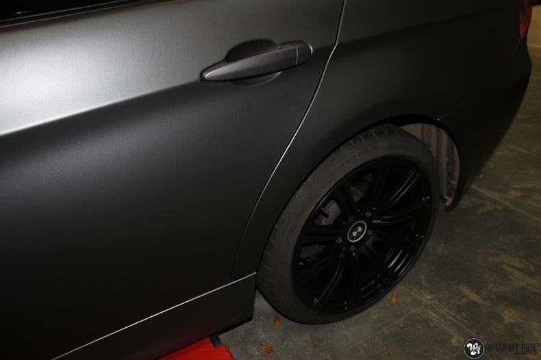 BMw 3-serie mat dark grey, Carwrapping door Wrapmyride.nu Foto-nr:8466, ©2021