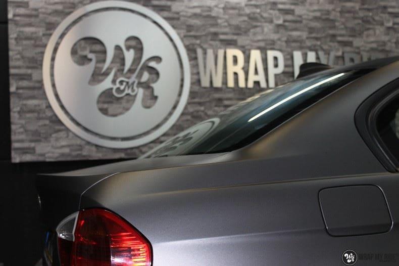 BMw 3-serie mat dark grey, Carwrapping door Wrapmyride.nu Foto-nr:8463, ©2021