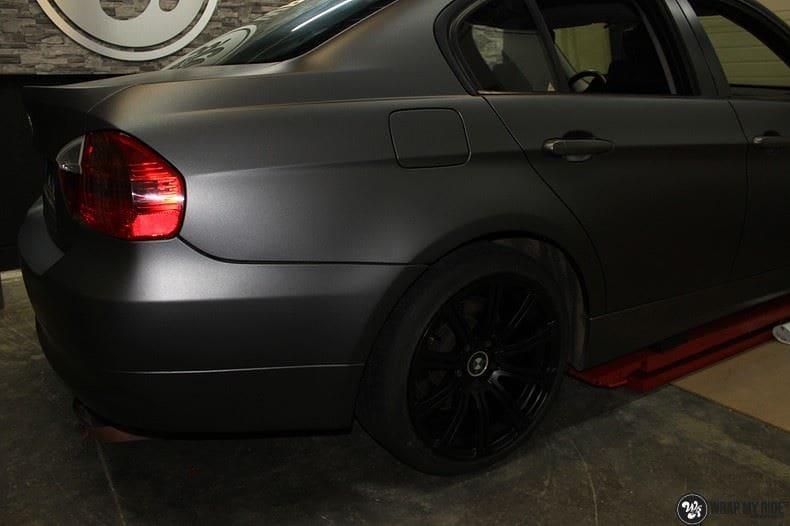BMw 3-serie mat dark grey, Carwrapping door Wrapmyride.nu Foto-nr:8462, ©2021
