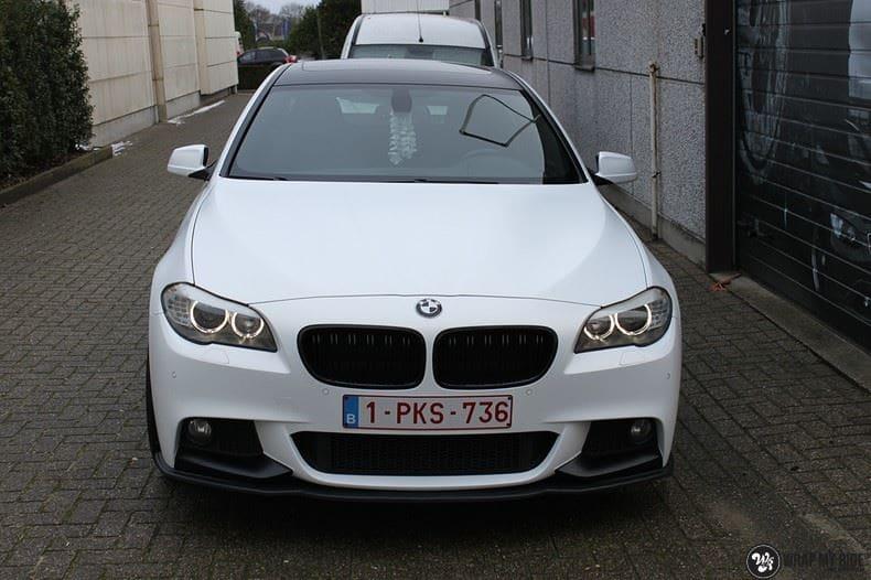 BMW F10 Satin frozen vanilla, Carwrapping door Wrapmyride.nu Foto-nr:9462, ©2020