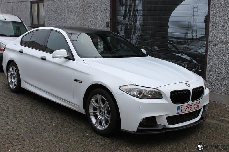 BMW F10 Satin frozen vanilla, Carwrapping door Wrapmyride.nu Foto-nr:9460, ©2021