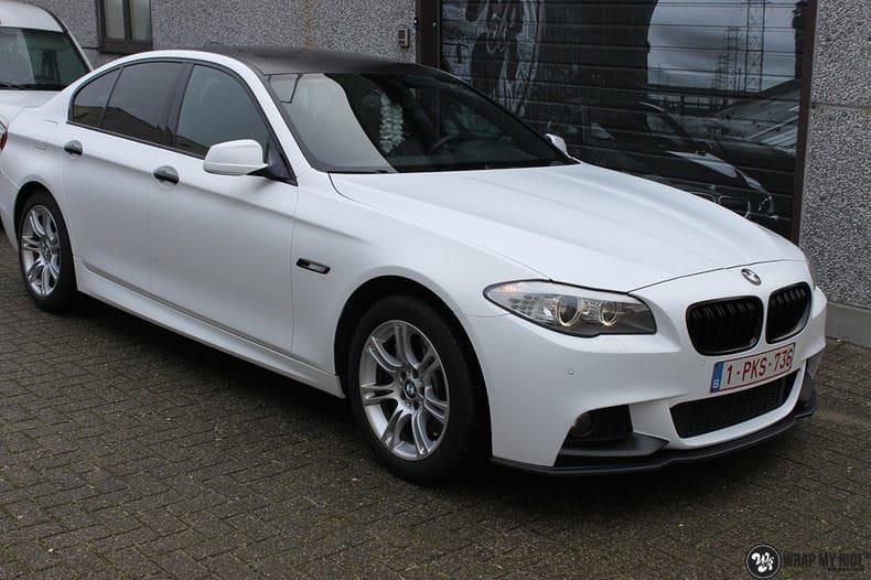 BMW F10 Satin frozen vanilla, Carwrapping door Wrapmyride.nu Foto-nr:9461, ©2020