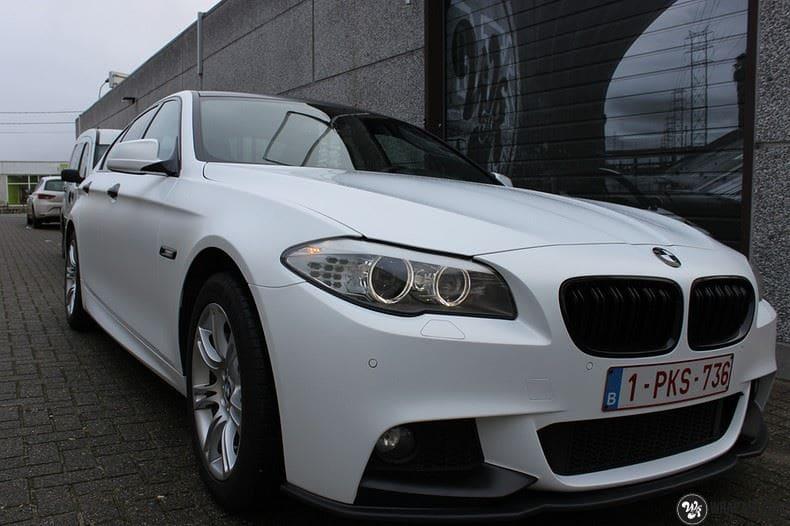 BMW F10 Satin frozen vanilla, Carwrapping door Wrapmyride.nu Foto-nr:9459, ©2021