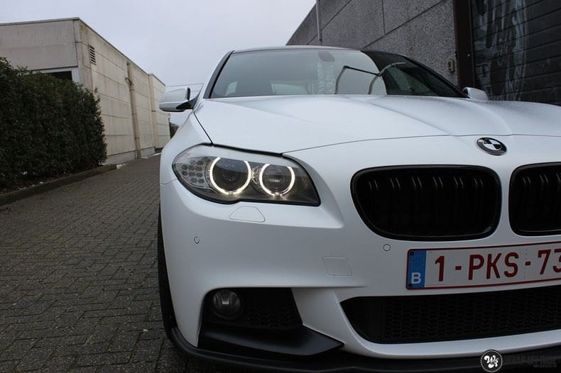 BMW F10 Satin frozen vanilla, Carwrapping door Wrapmyride.nu Foto-nr:9458, ©2018