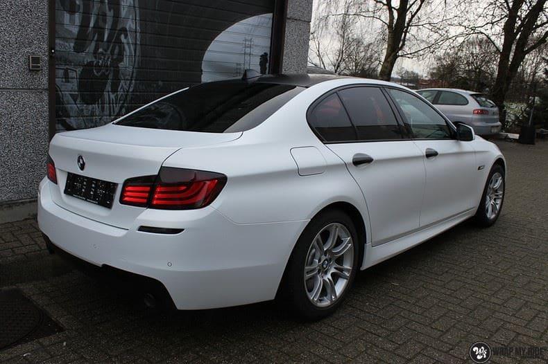 BMW F10 Satin frozen vanilla, Carwrapping door Wrapmyride.nu Foto-nr:9456, ©2020