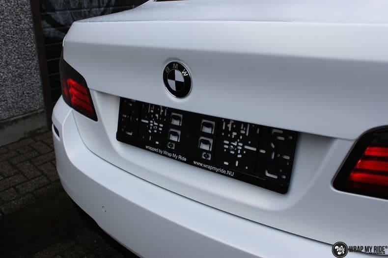 BMW F10 Satin frozen vanilla, Carwrapping door Wrapmyride.nu Foto-nr:9454, ©2021