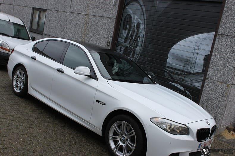 BMW F10 Satin frozen vanilla, Carwrapping door Wrapmyride.nu Foto-nr:9451, ©2018