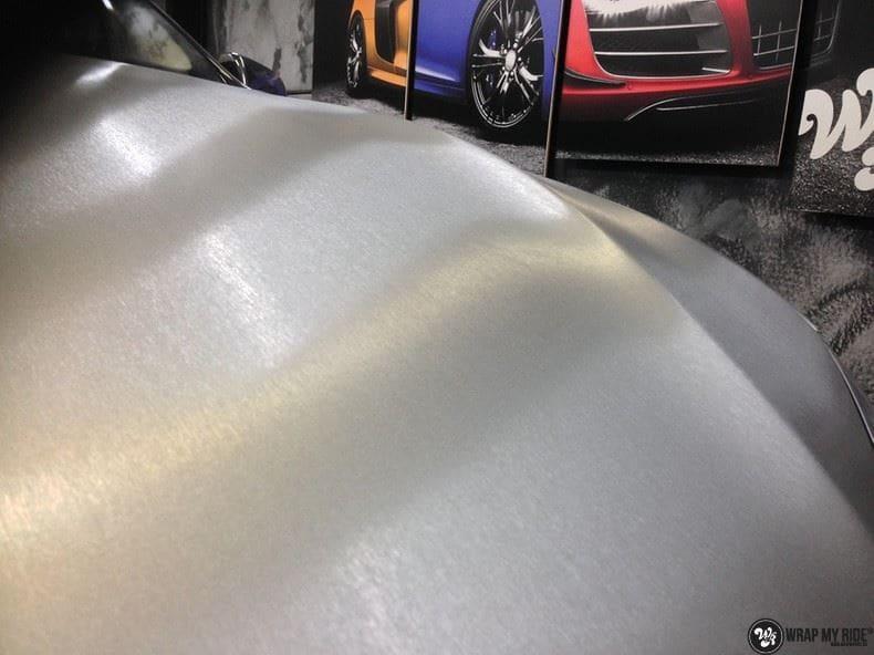 Tesla Model S brushed titanium, Carwrapping door Wrapmyride.nu Foto-nr:9084, ©2018
