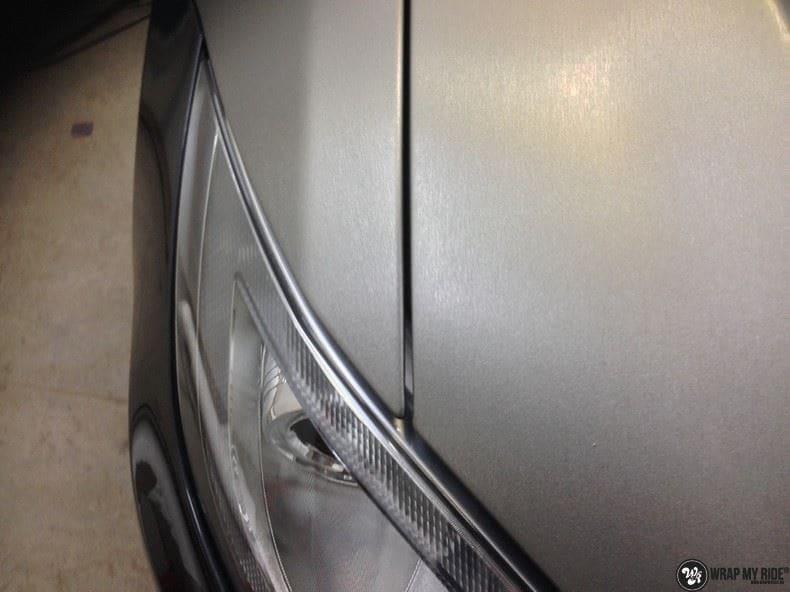 Tesla Model S brushed titanium, Carwrapping door Wrapmyride.nu Foto-nr:9086, ©2018